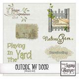 Outside My Door Word Art