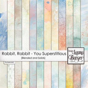 Rabbit, Rabbit - Are You Supertitious Grunge Papers