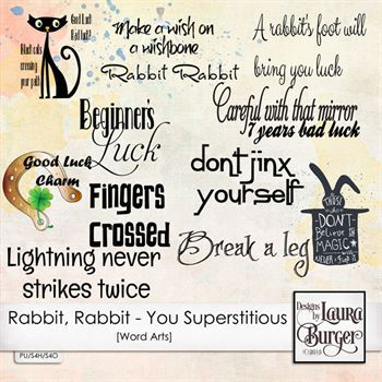 Rabbit, Rabbit - Are You Supertitious Word Art