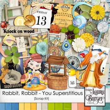 Rabbit, Rabbit - Are You Superstitious Scrap Kit