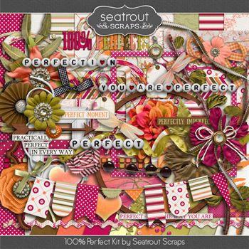 100% Perfect Kit Digital Art - Digital Scrapbooking Kits