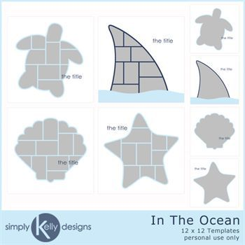 12 X 12 In The Ocean Templates