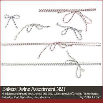 Bakers Twine Assortment No. 01 Digital Art - Digital Scrapbooking Kits