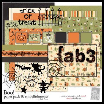 Boo Scrapbook Kit