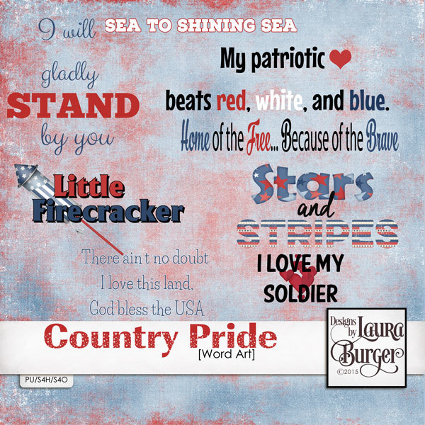 Country Pride Word Arts