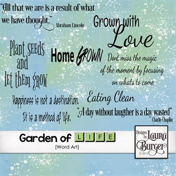 Garden Of Life Word Art