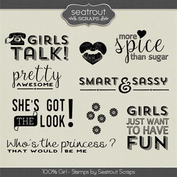 100% Girl Stamps