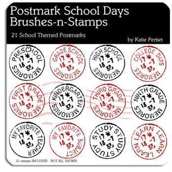 Postmark School Days Stamps