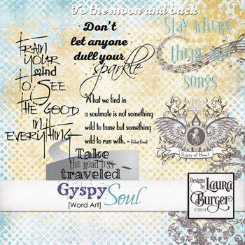 Gyspy Soul Word Art