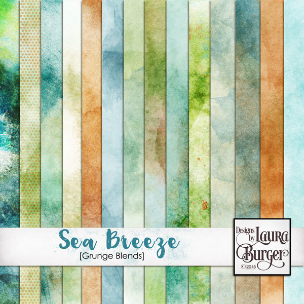 Sea Breeze Grunge Papers