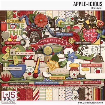 Apple-icious Digital Art - Digital Scrapbooking Kits