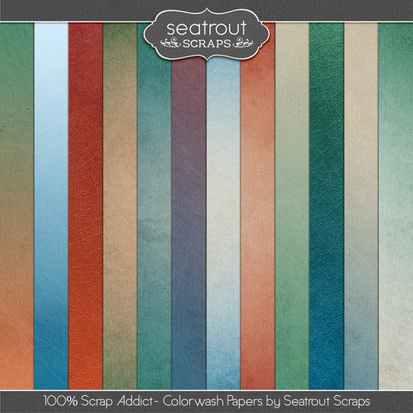 100% Scrap Addict Colorwash Papers