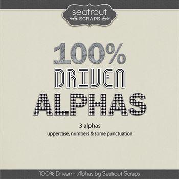 Driven Alphas Digital Art - Digital Scrapbooking Kits