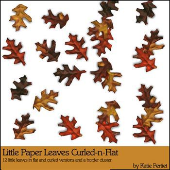 Little Paper Leaves Curled And Flat