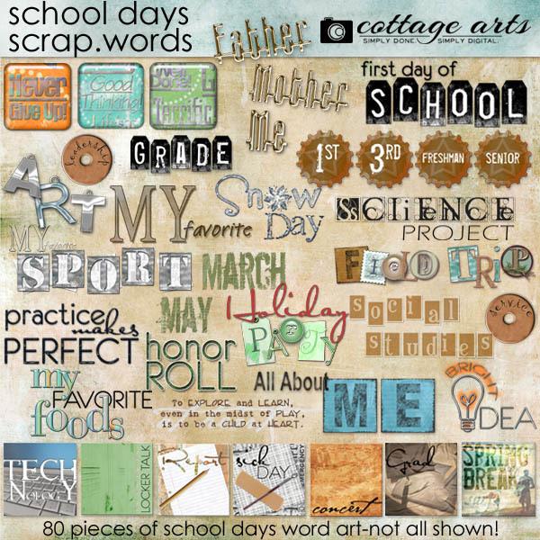 School Days Scrap.words