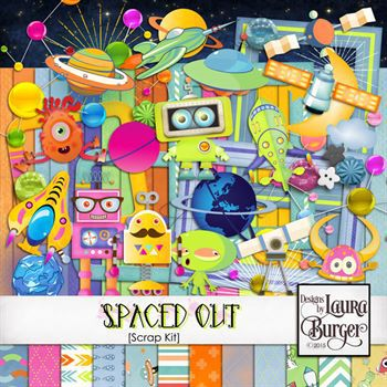 Spaced Out Scrap Kit