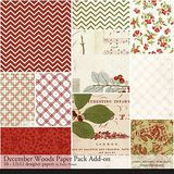 December Woods Add-on Paper Pack
