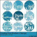 Greeting Dots Brushes And Stamps