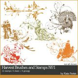 Harvest Brushes And Stamps No. 01