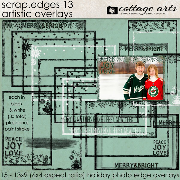 Scrap.Edges 13 Artistic Overlays