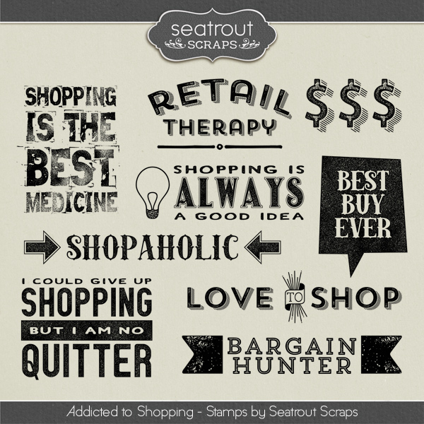 Shopping Addiction Stamps