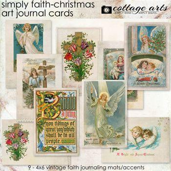 Simply Faith - Christmas Art Journal Cards