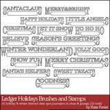 Ledger Holidays Brushes And Stamps