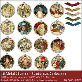 Lil Metal Charms Christmas Collection
