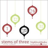 Stems Of Three Holiday Numbers Brushes And Stamps