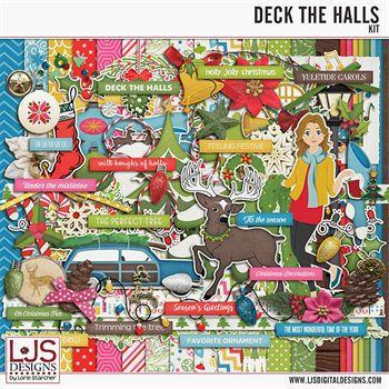 Deck The Halls - Kit Digital Art - Digital Scrapbooking Kits