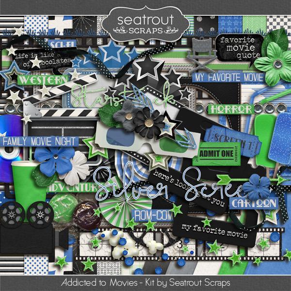 Movie Addiction - Kit Digital Art - Digital Scrapbooking Kits