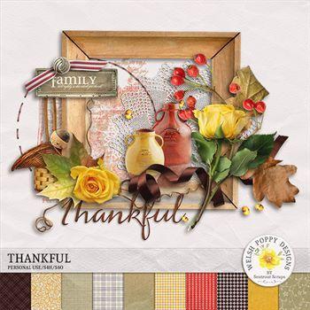 Thankful Mini Kit Digital Art - Digital Scrapbooking Kits