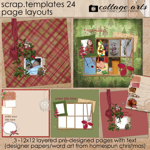 12 X 12 Scrap Templates 24 - Page Layouts