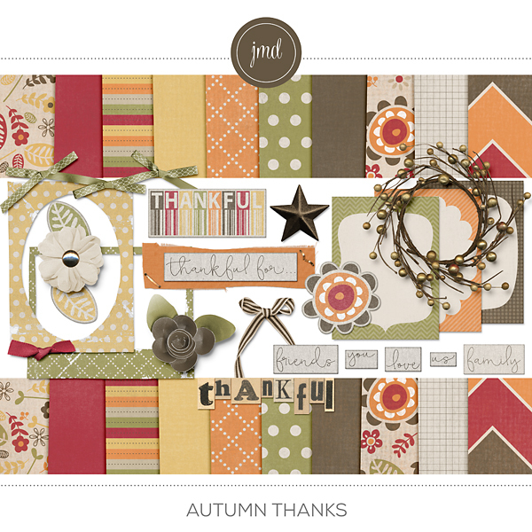 Autumn Thanks Digital Art - Digital Scrapbooking Kits