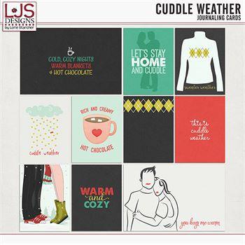 Cuddle Weather Journal Cards Digital Art - Digital Scrapbooking Kits