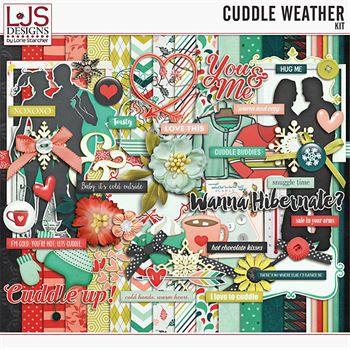Cuddle Weather Kit Digital Art - Digital Scrapbooking Kits