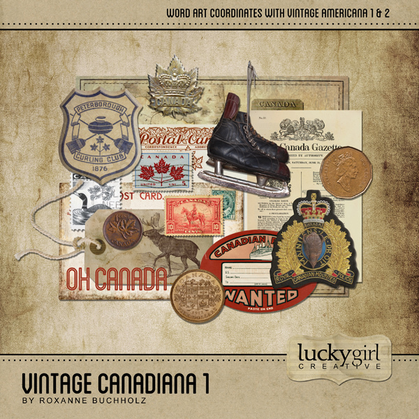Vintage Canadiana 1 Digital Art - Digital Scrapbooking Kits