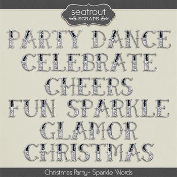 Christmas Party Sparkle Words