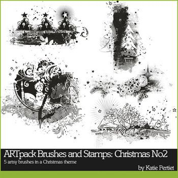Artpack Christmas Brushes And Stamps No. 02