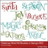 Christmas Word Art Brushes And Stamps No. 02