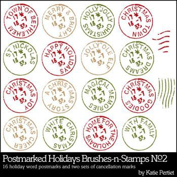 Postmarked Holidays Brushes And Stamps No. 02