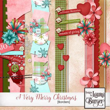 A Very Merry Christmas Borders