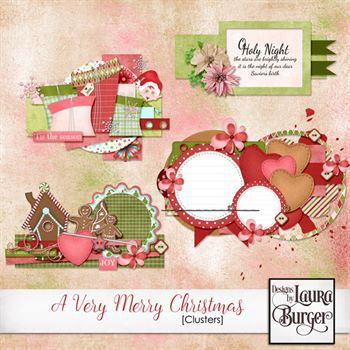 A Very Merry Christmas Cluster Set