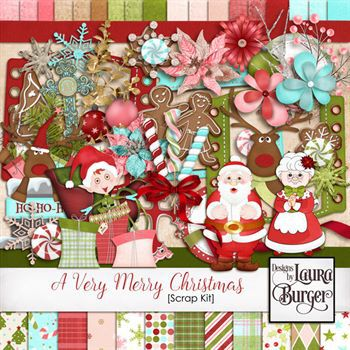 a very merry christmas scrap kit