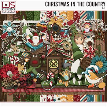 Christmas In The Country - Kit Digital Art - Digital Scrapbooking Kits