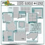 12x12 Blueprint Collection Bundle #4