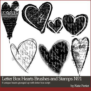 Letter Box Hearts Brushes And Stamps No. 01