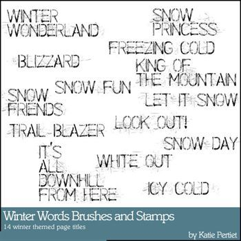 Winter Words Brushes And Stamps