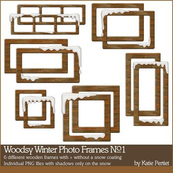 Woodsy Winter Photo Frames No. 01