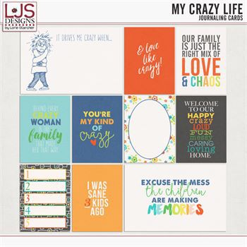My Crazy Life - Journal Cards